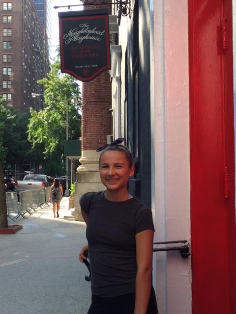 NYC teen tap dancer, actress & singer attends Neighborhood Playhouse School of the Theatre for 3 weeks in Teen Meisner Acting Camp