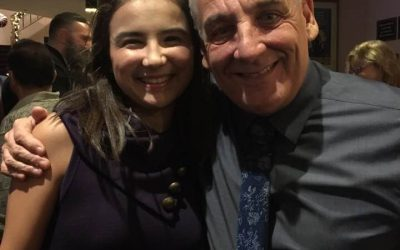 Portia with Annie Director Glenn Casale