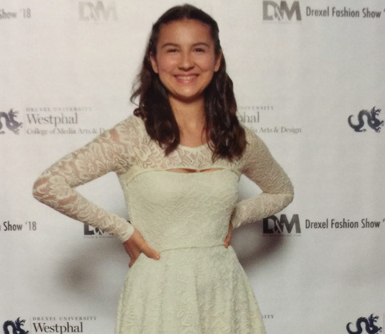 Portia Murphy poses at the Drexel Fashion Show in Philadelphia