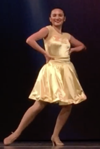 Portia Murphy strikes a pose during Musical Theatre number at dance recital